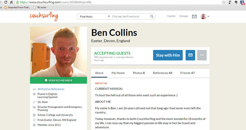 1-Ben Collins's Profile  Couchsurfing - Google Chrome 20112014 101333 AM