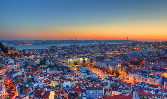 Lisbon View in Portugal - Messagez.com